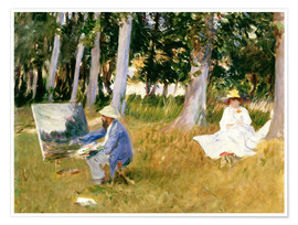 Premium poster painting Claude Monet, near the forest