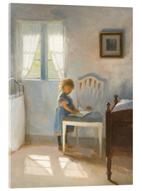 Acrylic print  Sunlight in the nursery - Peter Vilhelm Ilsted