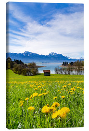 Canvas print  Bavarian Landscape with Mountains - Michael Helmer