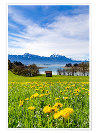 Premium poster  Bavarian Landscape with Mountains - Michael Helmer