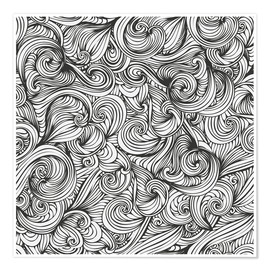 Premium poster Curly pattern