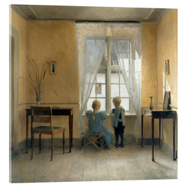 Acrylic print  At the window - Peter Vilhelm Ilsted