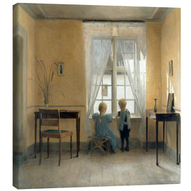 Canvas  At the window - Peter Vilhelm Ilsted