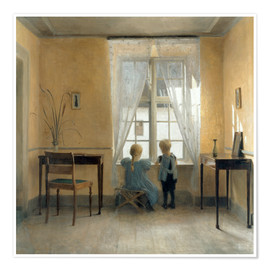 Premium poster  At the window - Peter Vilhelm Ilsted