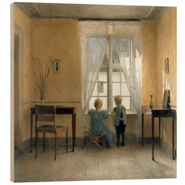 Wood  At the window - Peter Vilhelm Ilsted
