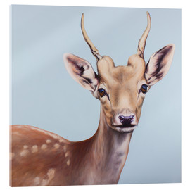 Acrylic glass  deer painting - Renate Berghaus