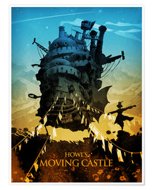 Premium poster  Howl's Moving Castle 2 - Albert Cagnef