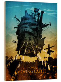 Wood print  Howl's Moving Castle 2 - Albert Cagnef