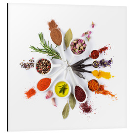 Aluminium print  Spice and herb'clock