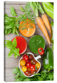 Canvas print  Fresh vegetable smoothie