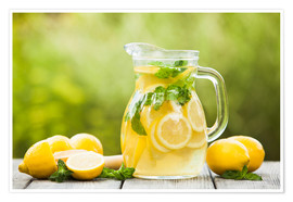 Premium poster Lemonade with mint