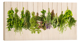 Wood  Hanging herbs