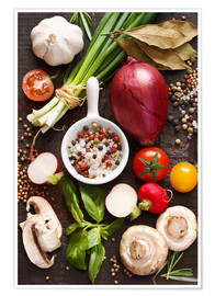 Poster  Ingredients for dinner