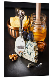 Alu-Dibond  Delicious blue cheese with honey