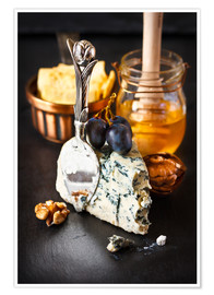 Premium poster  Delicious blue cheese with honey