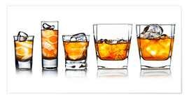 Premium poster  alcoholic drinks with natural ice