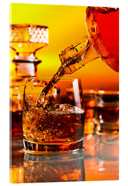 Acrylic print  glass with whiskey and ice