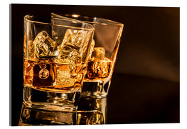 Acrylic print  Whisky glasses