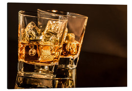 Aluminium print  Whisky glasses