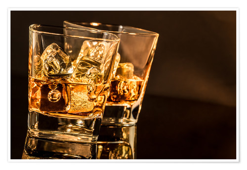 Premium poster Whisky glasses