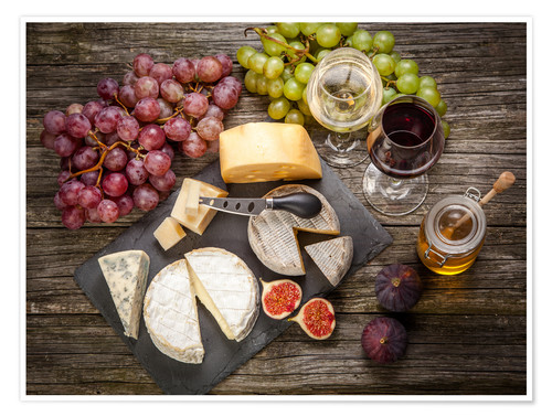 wine and cheese poster pdf