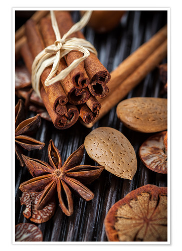 Poster winter spices