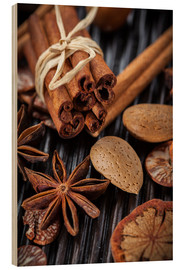 Wood  winter spices