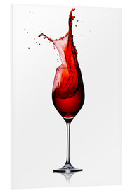 Foam board print  Red Wine Glass