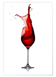 Premium poster  Red Wine Glass