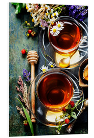 Forex  Herbal tea with honey, berry and flowers