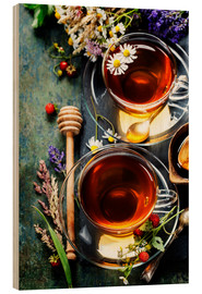 Wood  Herbal tea with honey, berry and flowers