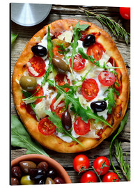 Alu-Dibond  Fresh homemade pizza