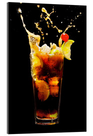 Acrylic glass  Cuba Libre Cocktail with splash