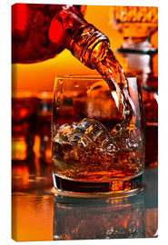 Canvas print  whiskey and ice