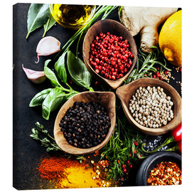Canvas print  Herbs and spices