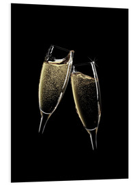 Forex  Cheers! Two champagne glasses