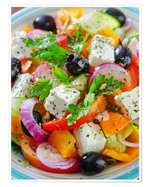 Premium poster  greek salad