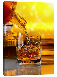 Canvas print  Whiskey with ice