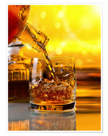Premium poster Whiskey with ice