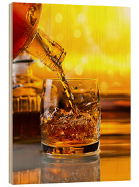 Wood  Whiskey with ice