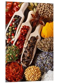 Forex  Colorful aromatic spices and herbs