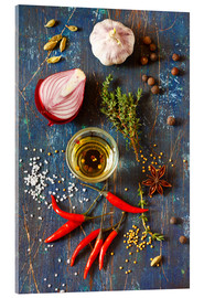 Acrylic glass  Spices and Herbs