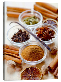 Canvas print  Christmas spices