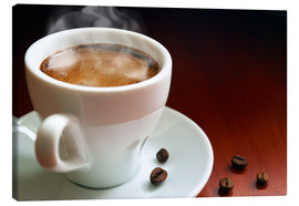 Canvas print  cup of hot coffee