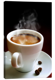Canvas print  A cup of hot coffee