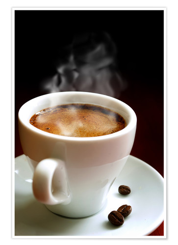 Premium poster A cup of hot coffee