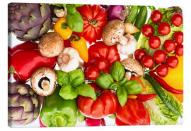 Canvas print  Fresh vegetables and herbs
