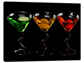 Canvas print  Glasses Of Cocktail Drinks
