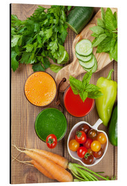 Aluminium print  Fresh vegetable smoothie