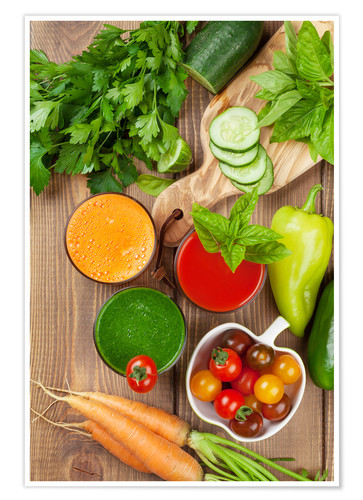Premium poster Fresh vegetable smoothie